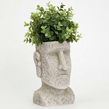 - Indoor/Outdoor Easter Island Statue Planter Urn For Plants Durable Polyresin