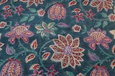 Indian Hand Block Print Pure Cotton Fabric Sanganeri Running New 3 Yard Craft