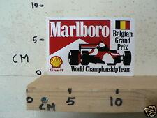 STICKER,DECAL MARLBORO BELGIAN GRAND PRIX WORD CHAMPIONSHIP TEAM F1 FORMULA ONE