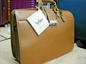 NEW  VTG HARTMANN tan American Leather Lawyer Doctor Briefcase