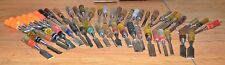 52 collectible wood chisels plastic handle Stanley Fuller Channel lock tool lot