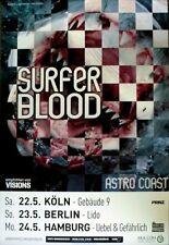 Surfer Blood - 2012-TOUR MANIFESTO-IN CONCERT-Astro Coast-TOUR Poster