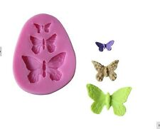 Butterfly Icing Fondant Mold - Butterfly Set Cake Decorations or Chocolate Mold