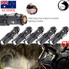 6x Super Bright LED Zoomable Focus Bright Flashlight Torch 1200LM Light AA/14500