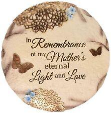 Garden Memorial Rock Mother Mom Remembrance Plaque Stone Cemetery Grave Statue