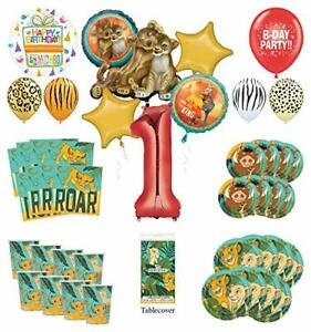 Mayflower Products Lion King 1st Birthday Party Supplies 8 Guest Decoration K...