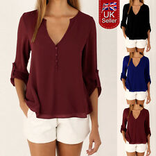 Women Tops Chiffon Blouse Long Sleeves Ladies Casual Loose T Shirts Plus Size. .