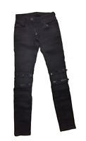 G-Star RAW Jeans Damen W27 L32 LYnn Zip Mid Skinny Slander Grey Superstretch