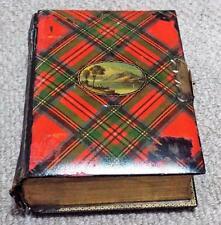 Antique Mauchline Tartanware CDV Photo Album - Stuart Tartan Loch Lomond  c1880