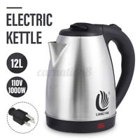 1000W 2L Electric Tea Pot Kettle Stainless Steel Kettle Water Fast Boiler USA