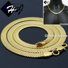 """20""""MEN's Stainless Steel 6mm Gold Herringbone Chain Necklace*GN159"""