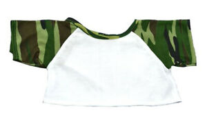 Adorable Camo Specialtee Fits Most 8 to 10 inch Build A Bear and Make Your Own S
