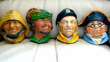 "4 chalk heads(not Bossons) ""Made in England""  Robin Hood Mr Bumble fishermn ec"