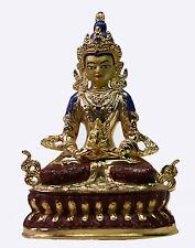Buddha Statue Figur AMITAYUS Tibet Indien Klangschale Meditation  Nepal  M01