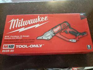 Milwaukee 2635-20 M18 18V 18 Gauge Cordless Double Cut Shear, Bare-Tool
