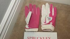 NIKE SUPERBAD SG ADULT XXL HIGH-IMPACT SKILL POSITION FOOTBALL GLOVES, PINK NFL