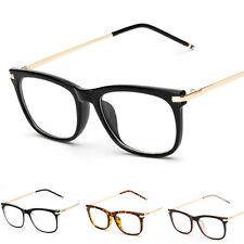 Womens Men Clear Lens Glasses Vintage Fashion Frame Nerd Geek Eyewear Unisex
