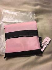 NWT VICTORIA'S SECRET PINK BLACK STRIPED SHOULDER BAG TOTE Travel Pocket BEACH