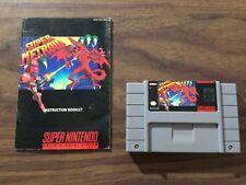Super Metroid (Super Nintendo, SNES) Authentic Game Cart + Manual -- Tested