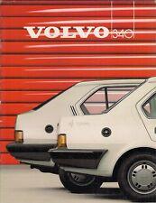 Volvo 340 Series 1985-86 UK Market Sales Brochure DL GL GLE Hatchback Saloon