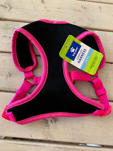Mesh Top Paw Pink Black Dog Chest Harness Small
