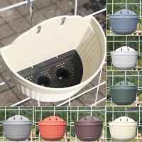 Wall-Hanging Flower Pot Garden Fence Balcony Basket Plant Pot Planter Art Decors