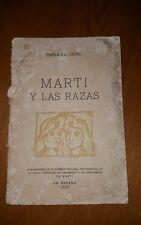 Marti y las razas por Fernando Ortiz Paperback Book (Spanish) 1953