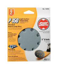 Shopsmith 5 in. Dia. Sanding Disc 150 Grit Fine Hook and Loop 15 pk