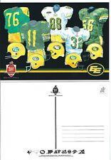CFL Official Postcard - Edmonton Eskimos Jersey History