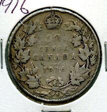 Weeda Canada 1916 silver 50c half dollar
