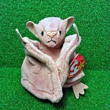 New Ty Beanie Baby Batty The Bat Rare 1996 PE Plush Toy - MWMT - Free Shipping