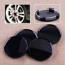 4x Front Rear 63mm Car Auto Black Wheel Center Hubs No Badge Caps Emblem Covers