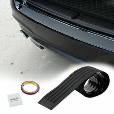 JDM Rear Bumper Guard Sill Plate Trunk Protector Trim Cover Black Rubber Pad Kit