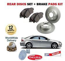 FOR MAZDA 6 2.0DT 2.3i 4WD SPORT 7/2002-8/2006 REAR BRAKE DISCS + DISC PADS SET