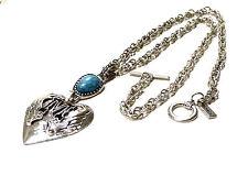 Bijou alliage argenté collier pendentif coeur Morgan necklace