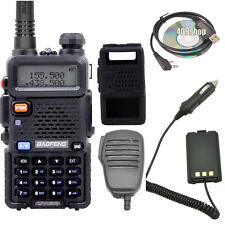 2set xUV-5R walkie talkie +Speaker/MIC + Case + Earpiece USB+Programming Cable