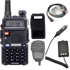 UV-5R walkie talkie +Speaker/MIC + Case + Earpiece USB+Programming Cable