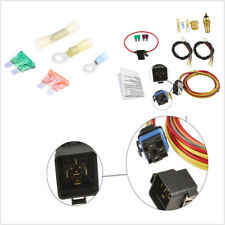 Universal Dual Electric Cooling Fan Wiring Thermostat 40Amp Waterproof Relay Kit