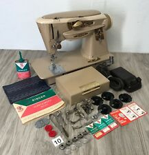 1961 Singer 500A Sewing Machine Slant O Matic Rocketeer Works Perfect Heavy Duty