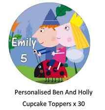 Ben And Holly's Pequeño Reino Personalizado Cupcake Toppers Comestible Oblea De Papel