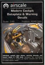 Airscale Decals 1/48 MODERN COCKPIT DATAPLATE and WARNING DECALS