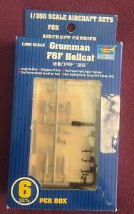 Trumpeter 1/350 Grumman F6F Hellcat (6) sets for Aircraft Carrier Kit.06210