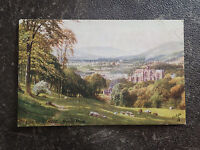 Vintage Postcard-The Lowlands. Melrose Abbey & Stamp of Mt. Wellington TAS (134)