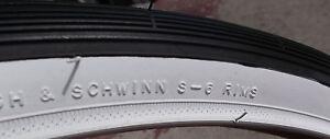 26 1 3/8 Schwinn Whitewall tire for collegiate breeze traveler s6 s 5 kenda