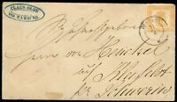 Mecklenburg-Schwerin,Brief(7I) Hamburg-Kleefeld bei Schwerin, feinst