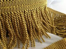 "BY THE YARD  6"" Bullion Fringe in ROMAN GOLD rolls up to 12.5 yards without seam"
