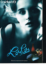 PUBLICITE ADVERTISING 014   1989    CACHAREL   parfum LOULOU