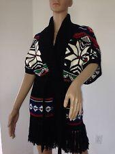 Ralph Lauren BL Fringed Belted Knit Sweater Pullover Vest Alpine Chic $695 S M L