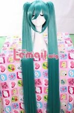 Halloween 120cm Megurine Miku Long Straight Clip PONYTAIL cosplay hair Wig ML116
