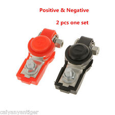 Red Black Battery Terminal Clamp Connector Clips Positive&Negative With Cover